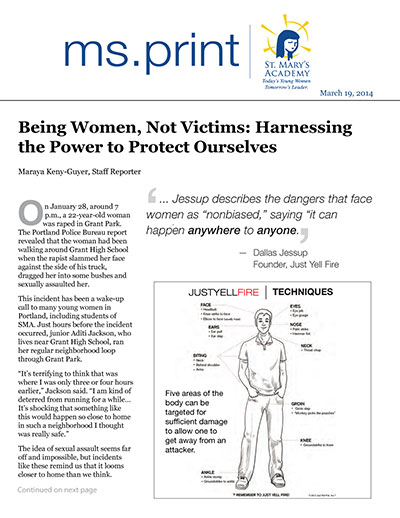 Being Women, Not Victims: Harnassing the Power to Protect Ourselves
