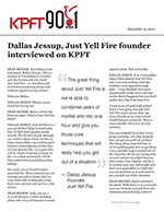 Dallas Jessup, Just Yell Fire founder interviewed on KPFT